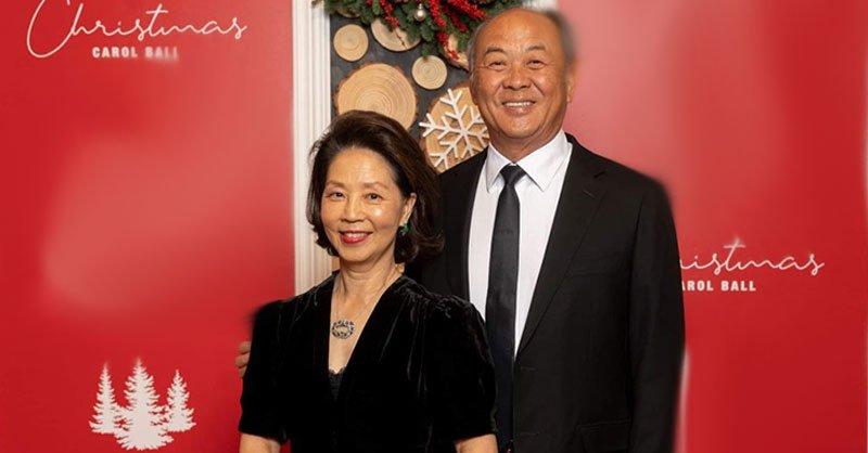 David and Diana Sun at the Hoag Hospital Foundation Christmas Carol Ball